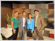Steven Chia and Yvonne Yong with Dr. Kevin Lau and Your Plan for Natural Scoliosis Prevention and Treatment